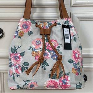 💖 Bueno Floral Drawstring Shoulder Bag Purse New